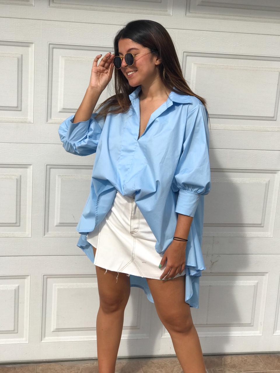 bluson azul en popelina
